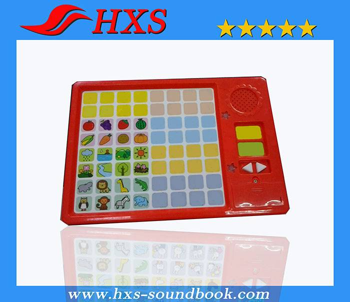 Two Language 64 Button Educational Basic Knowledge Music Sound Pad for Children