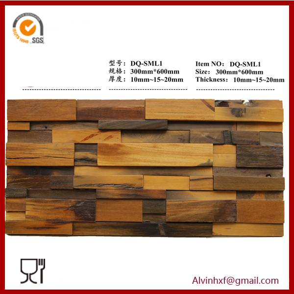 Solid Wood Mosaic tiles for Home Wall Decoration