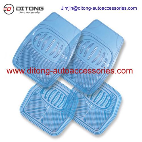 New Design No Slip Transparent PVC Car Mats Clip