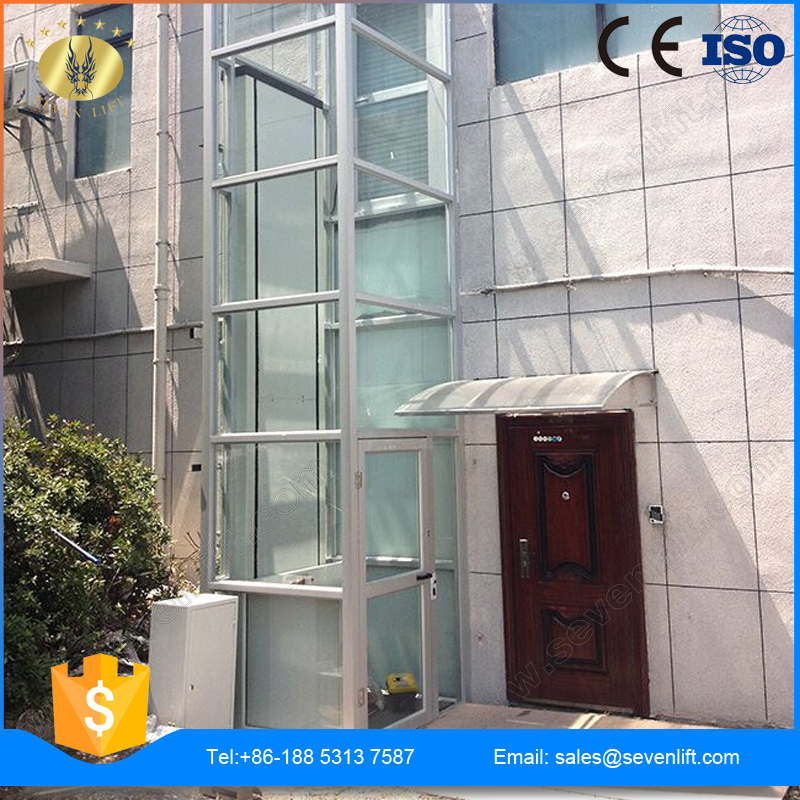 7LSJW Shandong SevenLift stainless steel hydraulic outdoor use manual low noise wheelchair lift