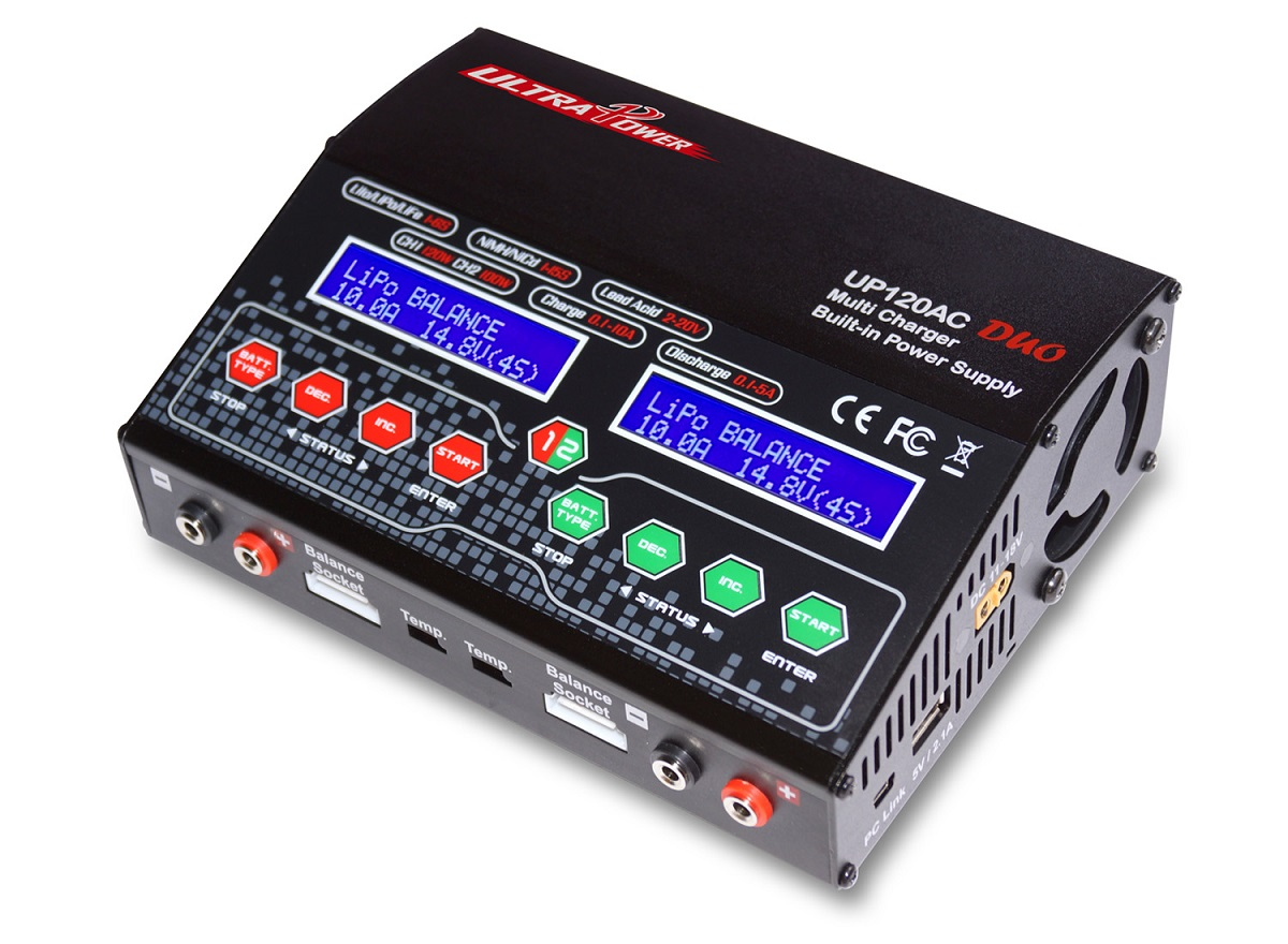 UP120AC DUO charger RC charger supply power