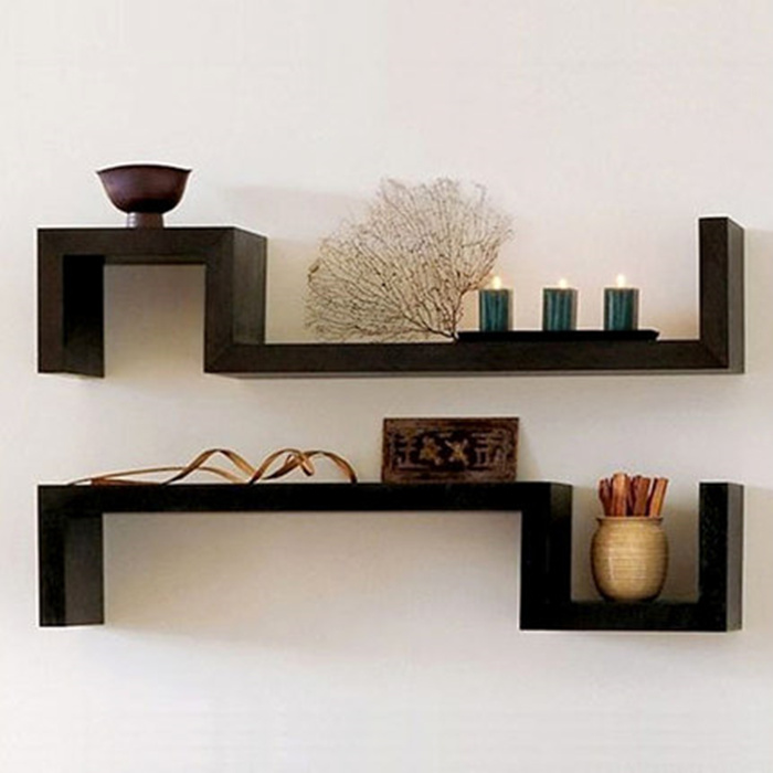 S-shaped shelf Living room display wall shelf FR014
