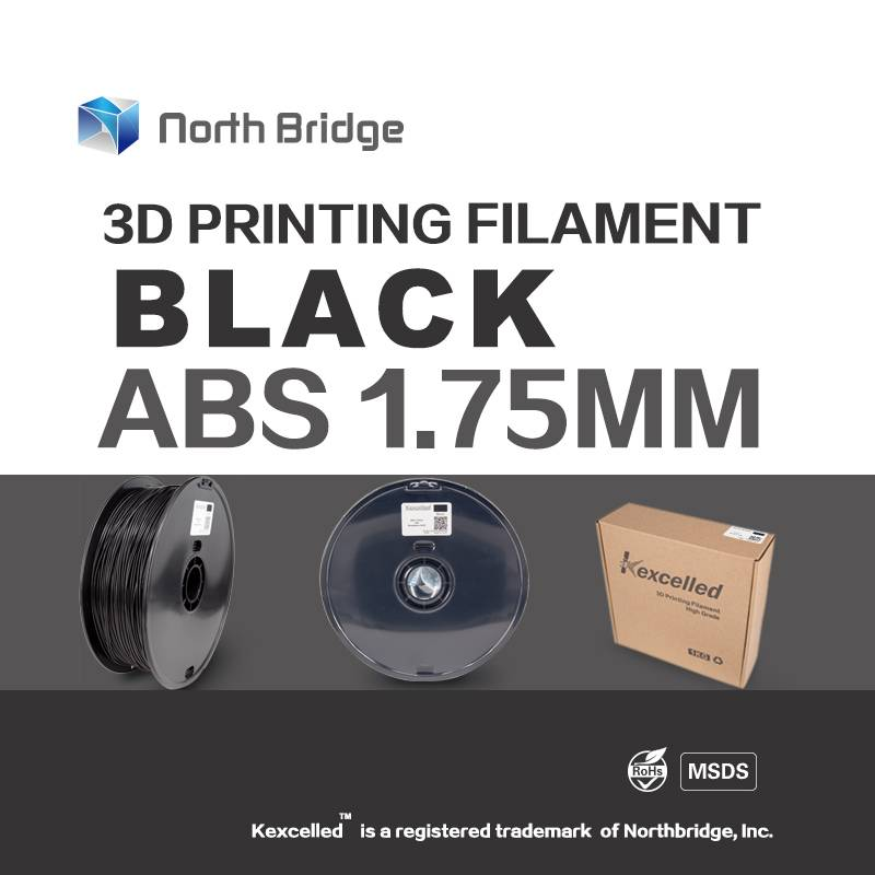 Kexcelled 1.75mm 3.0mm ABS 3D Printer Filament - 1kg Spool (2.2 lbs) - Dimensional Accuracy +/- 0.05