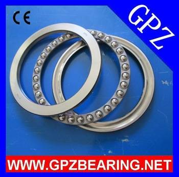 GPZ 51400 Series thrust ball bearing 51408 (8408) high quality chrome steel bearings