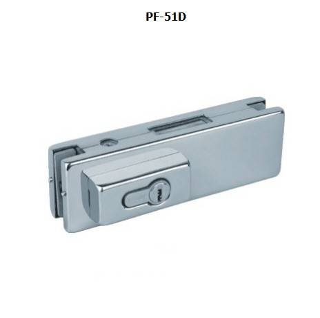 glass door patch fitting lock
