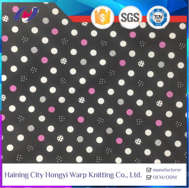 Knitting 4 Way Stretch Polka Dot Printed Nylon/Polyester Spandex Swimwear Sport Yoga Fabric