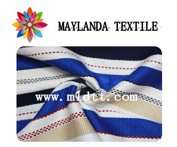 Maylanda Textile 2016factory for Garments, New Style Cross Stripe Yarn Dyed Jacquard Chenille Fabric