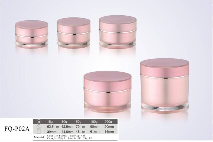 15g-200g pink double wall decorative cream containers