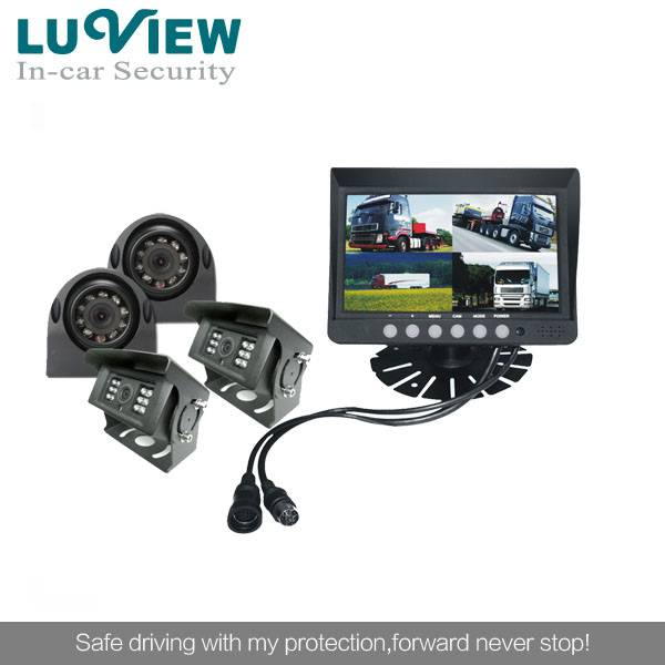 front And backup 7 Inch Lcd Rear View Camera System for Truck Bus