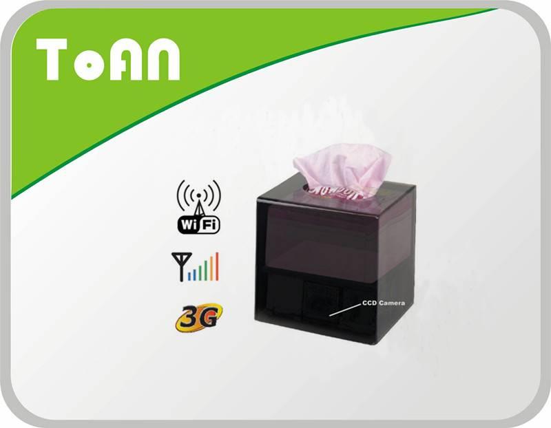 TOAN Tissue Box Wifi &Ip Camera DVR Support 32GB, D1 640X48