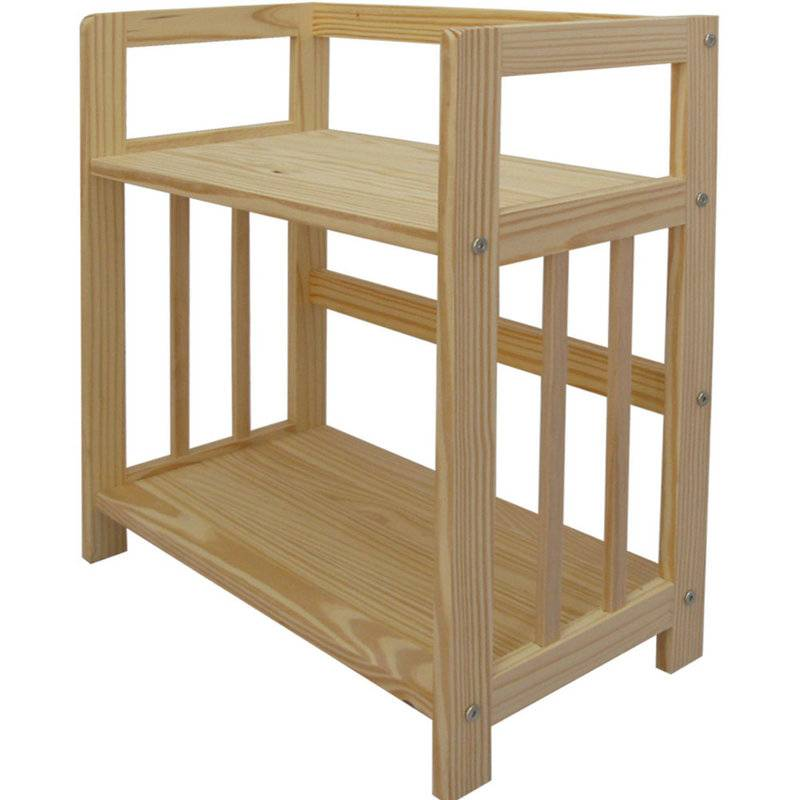 Wooden 2 Shelf Bookcase- Solid Unfinished Pine