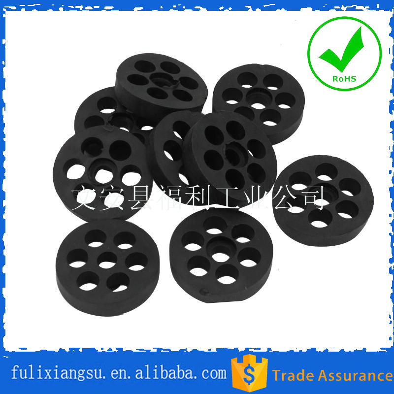 Air conditioner seven hole bracket rubber cushion pad