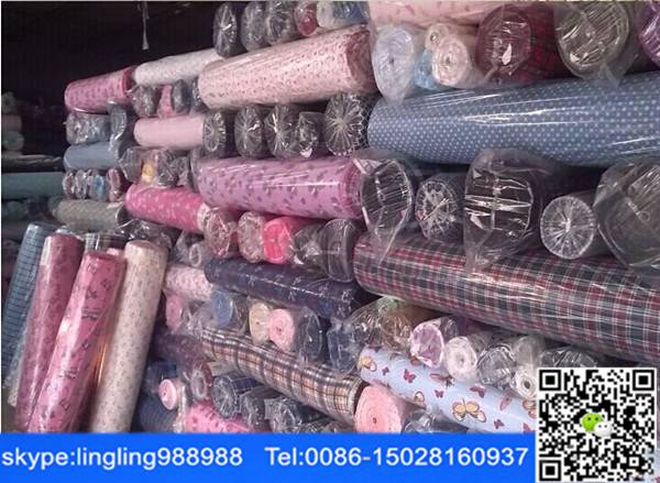 stocklot printed cotton flannel fabric