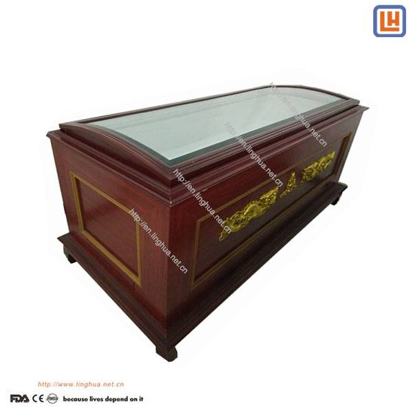 Wooden Body Ice Box Casket,Air-Condition Coffin Corpse Refrigerator for Dead Body Storage