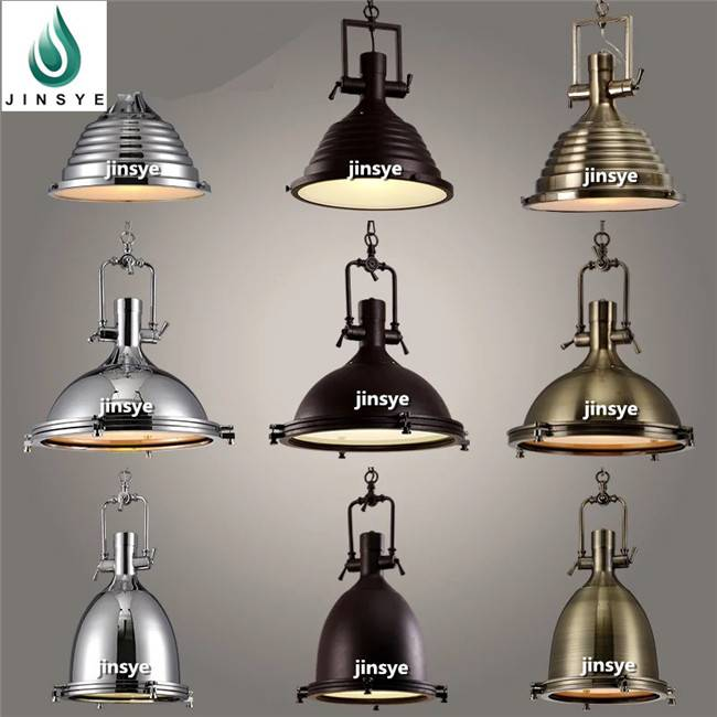 Vintage Glass pendant lamp hanging light