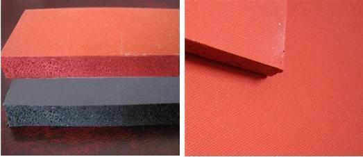 Sponge rubber sheet