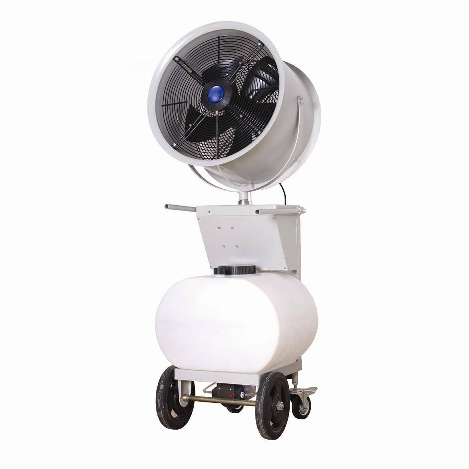 high pressure nozzle mobile misting fan