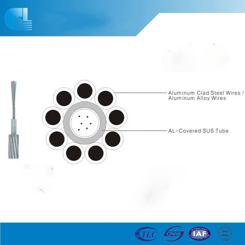 Typical Designs of Central AL-covered Stainless Steel Tube OPGW