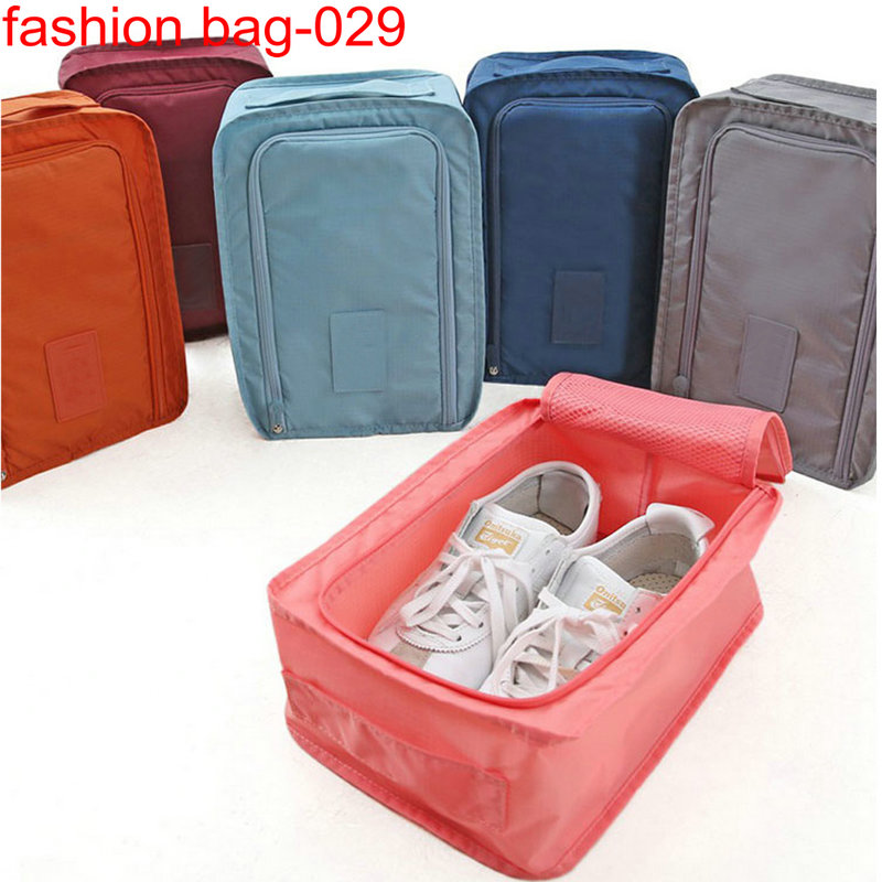 Ripstop nylon High Quality travelling storage Zipper Mesh Shoes Organizer