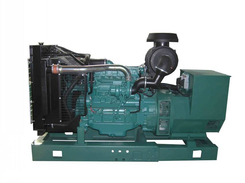 Silent/Open  type 3 Phase 50Hz Diesel 80kw Generator Head With VOLVO Engine Generator