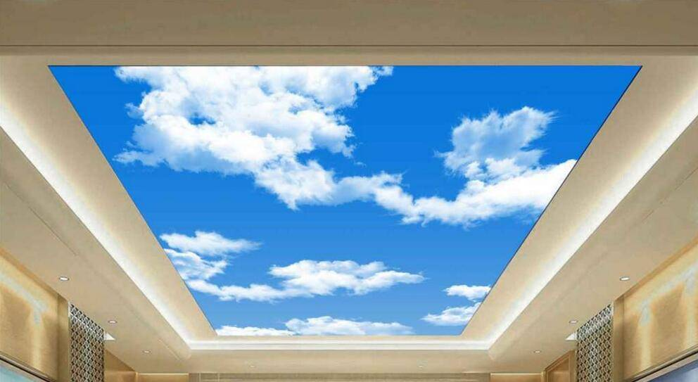 Theme 3D ceiling nature sky wallpaper