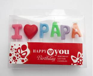 Special letter birthday candle