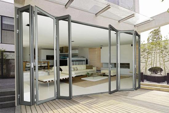 china supplier gardening aluminium folding door