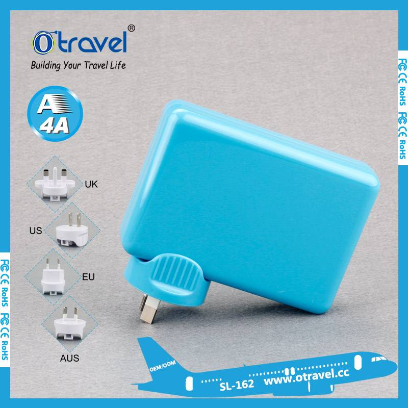 Otravel travel adapter with 4 usb output power 8A