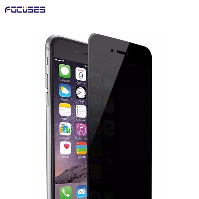 Focuses Premium 9H 2.5D 180 Degree Privacy Anti-Spy Anti-Glare Tempered Glass Screen Protector for i