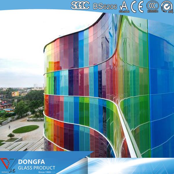 colorful PVB laminated glass