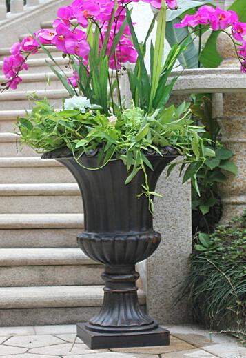 outdoors garden patio flowerpot stand aluminum flower pot metal flowerpot