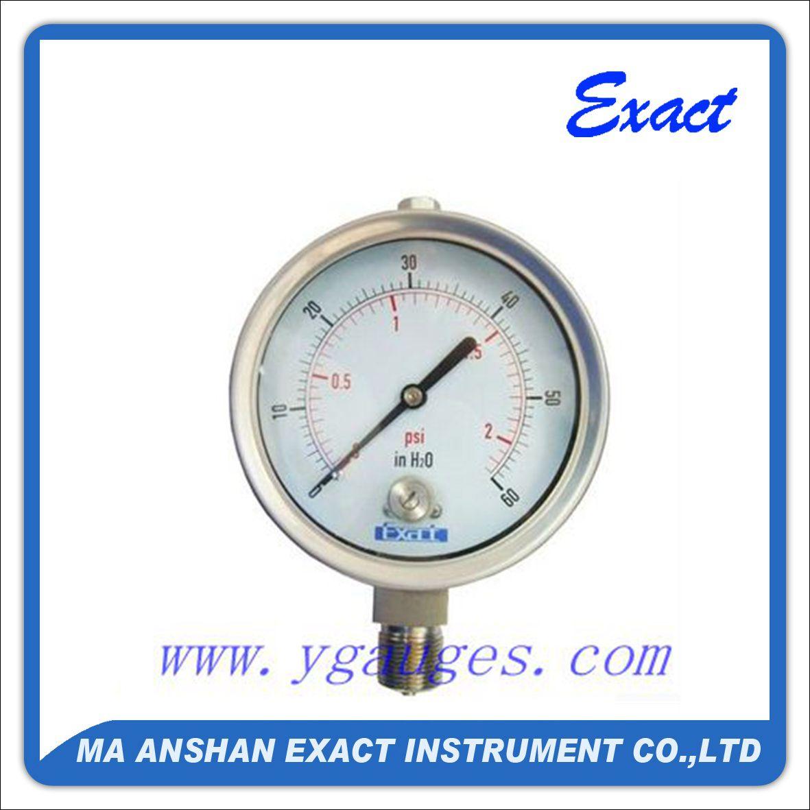All Stainless Steel Ammonia Pressure Gauge