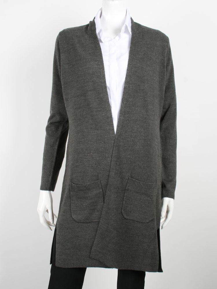 Open Front Knit Women Long Cardigan
