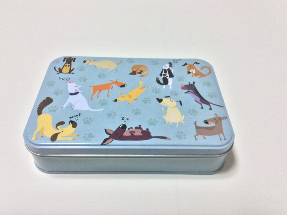 2017 new lovely dog sationery gift factory wholesale tin box