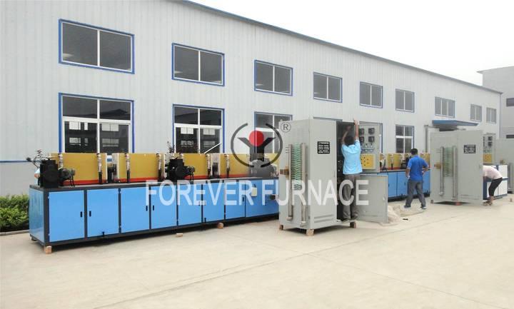 Steel bar induction heating machine