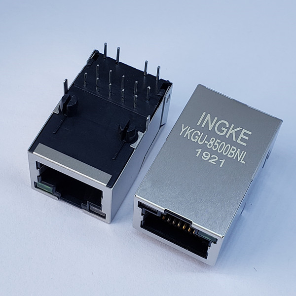 7499110124 Single Port Gigabit Through Hole Magnetic Modular RJ45 Jacks