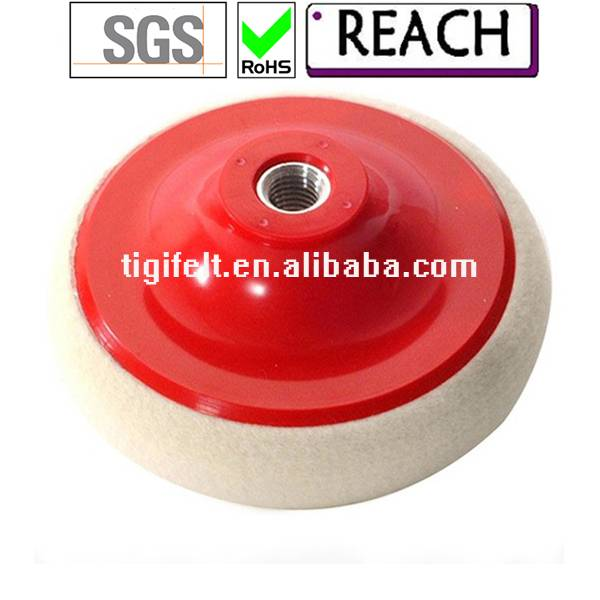 grinding wheel and polishing wheel with fastening