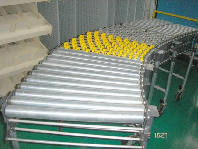 Fexible roller conveyor