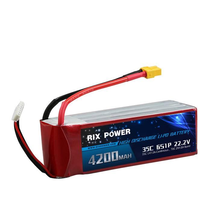 Rix Power RC Lipo Battery 4200mah 35c 6s
