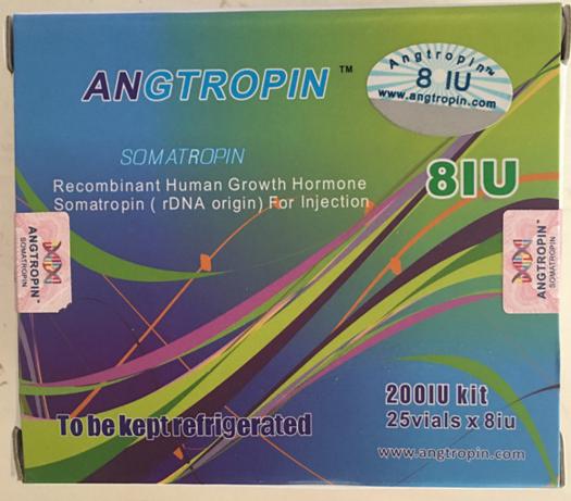 Angtropin 200IU Kit,25 vials×8iu,Genuine HGH with Anti-counterfeiting Code,New Powerful HGH Wholesal