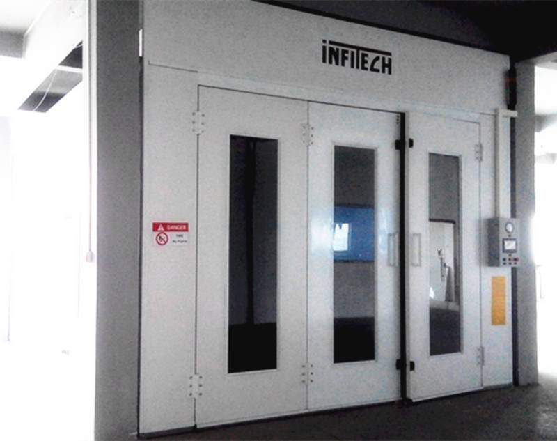 Spray Booth Painting Booth with Direct Gas Burner