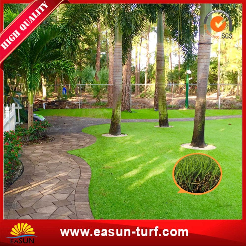Flat monofilament artificial grass garden fence for garden- ML