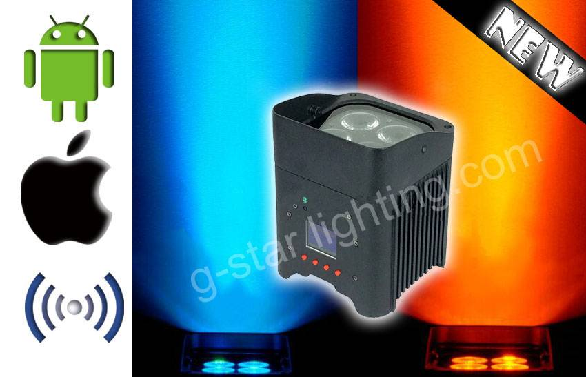 4 led 6in 1 par can/Wirel led par 4x12w/ Control  Remote With mobile phone