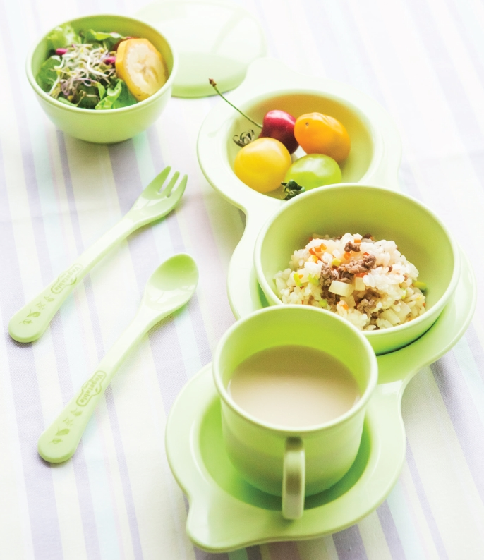 Baby product Tableware 7pcs_Eco-Friendly Soy bean plate set