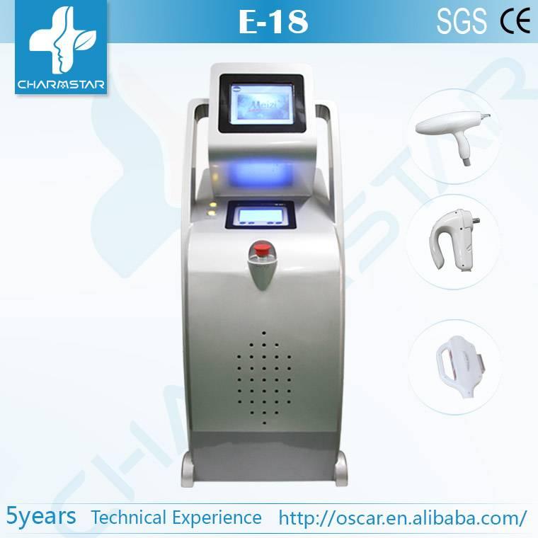 3 handles E light (ipl & rf)+RF+ND Yag RF ipl laser hair removal