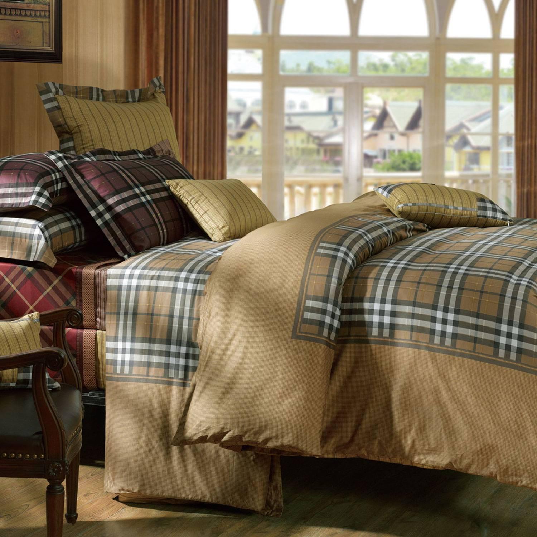 Fuanna Birmingham 3 Pieces Set Cotton Panel Print Queen Duvet Cover and Pillow Shams