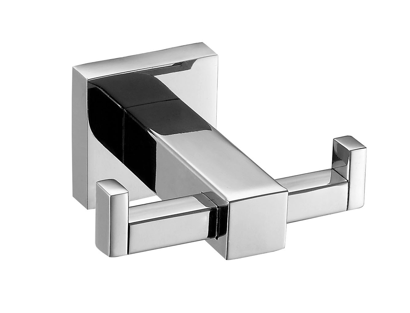 Square double clothes hook,polished robe hook,house hook hanger