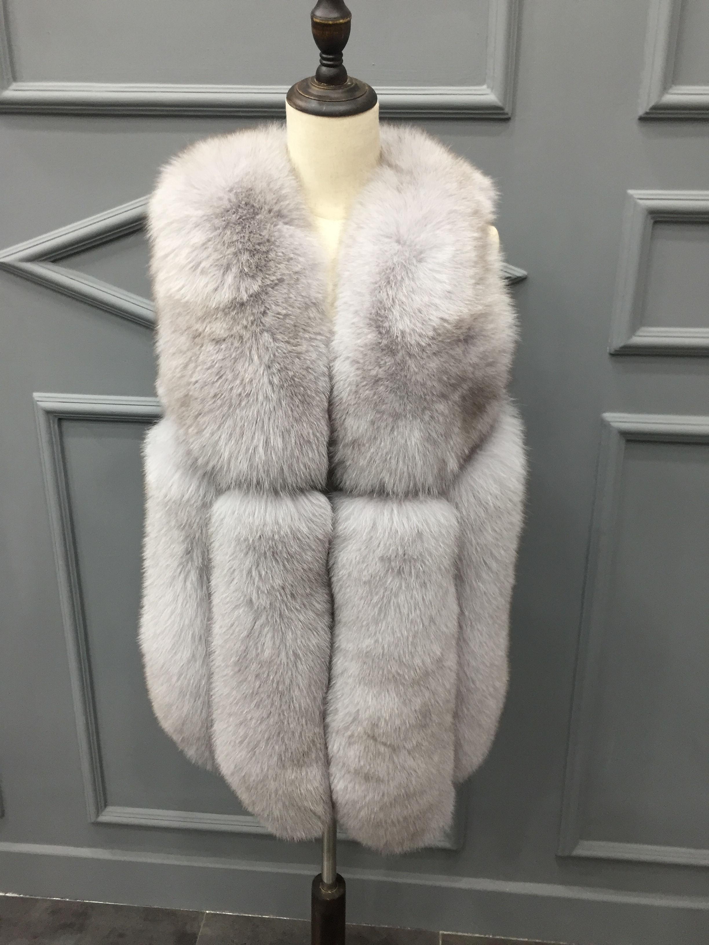 Genuine fox fur gilet