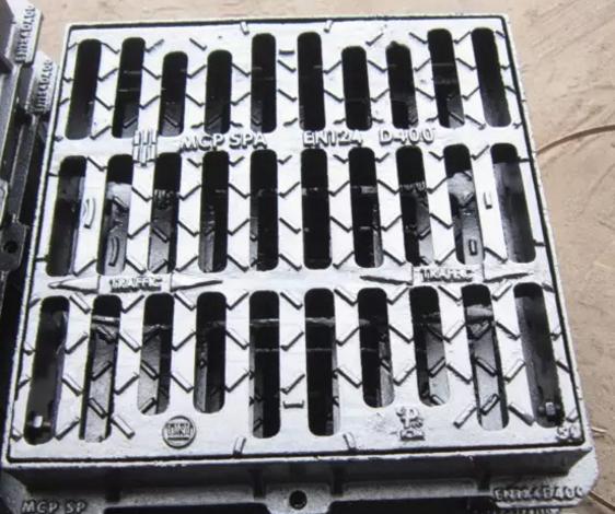 Ductile cast iron square grating