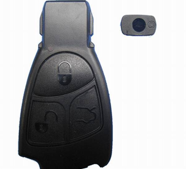 Benz smart key shell 3-button without the plastic board cardiag.co.uk